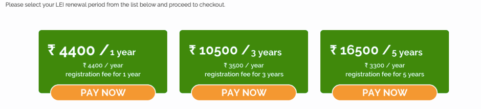 LEI registration period